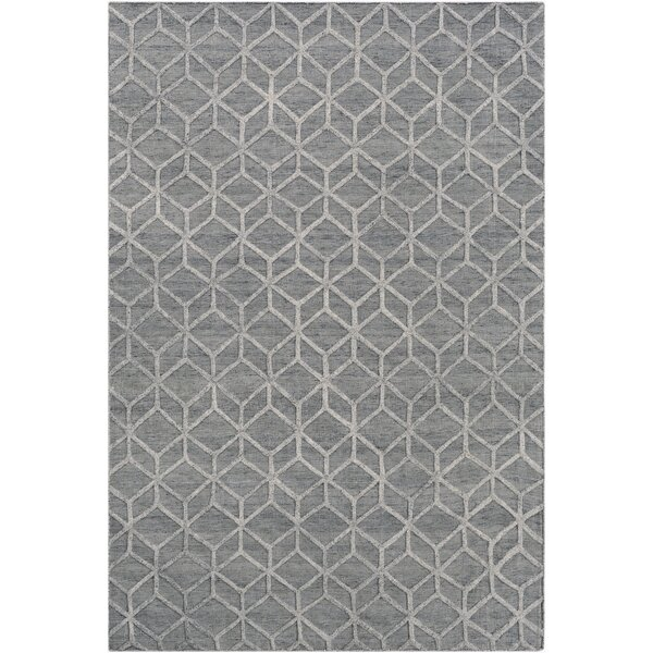 Rumbaugh Modern Hand-Woven Ivory/Gray Area Rug by Mercer41