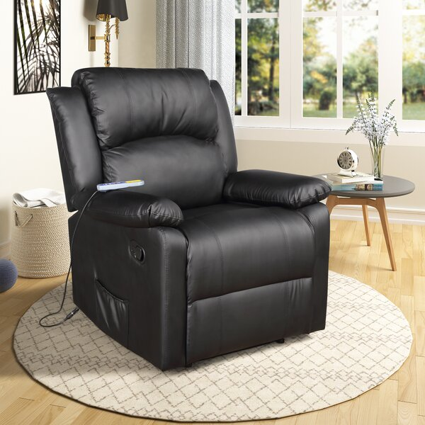 Tulum Padded Heated Massage Power Recliner W001919059