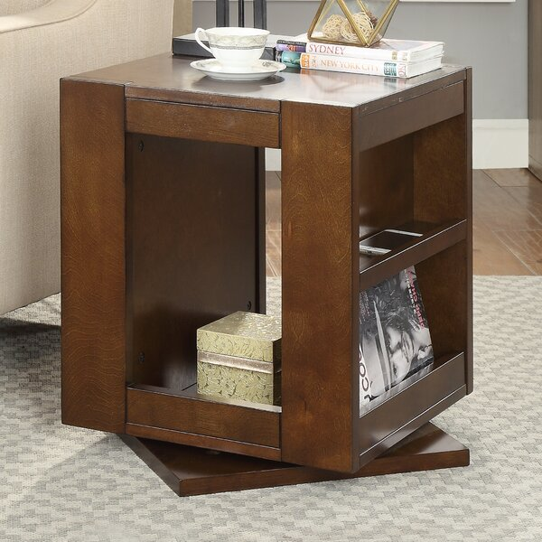 Indira Swivel End Table by Latitude Run