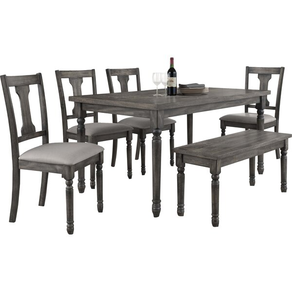Best #1 Dunwoody 6 Piece Dining Set By Three Posts Purchase