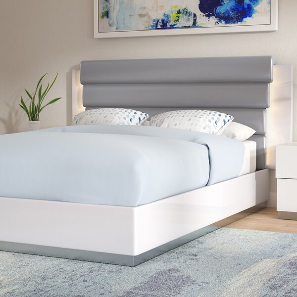 Langridge Upholstered Platform Bed by Wade Logan