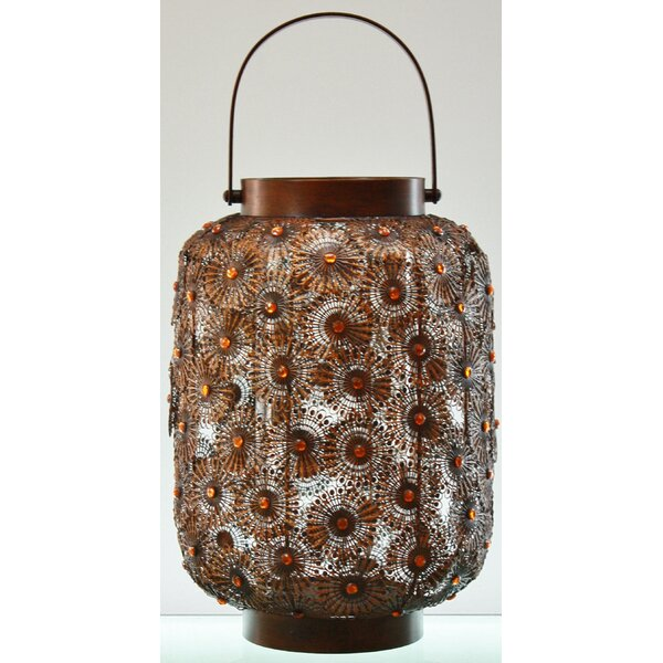 Dahlia Metal Lantern by TLC Home