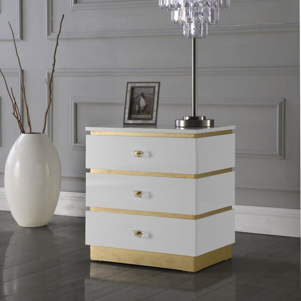 Annabell 3 Drawer Nightstand by Everly Quinn