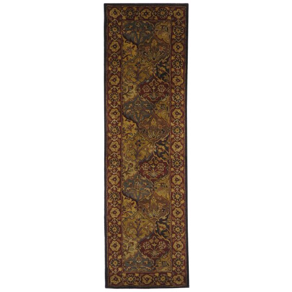 Balthrop Handmade Wool Red/Gold Area Rug by Astoria Grand