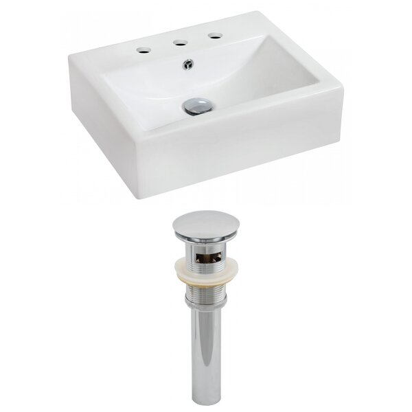 Ceramic 21 Wall Mount Bathroom Sink with Overflow by Royal Purple Bath Kitchen