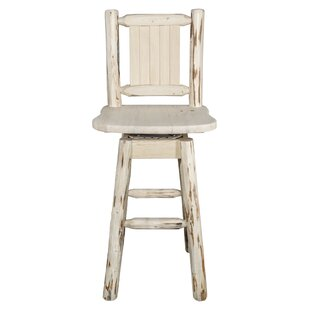 Rochester 30 Swivel Square Barstool by Loon Peak