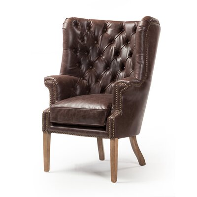 Light Yellow Wood Wingback Accent Chairs You Ll Love In