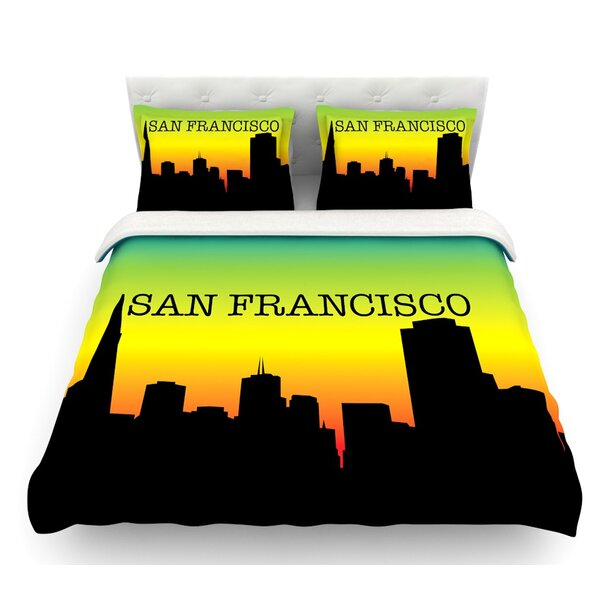 San Francisco  Featherweight Duvet Cover by East Urban Home