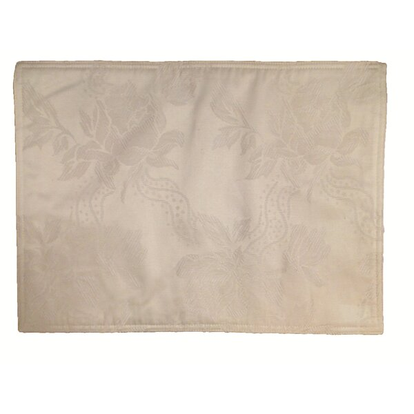 Lined Jacquard Placemat (Set of 6) by Textiles Plus Inc.