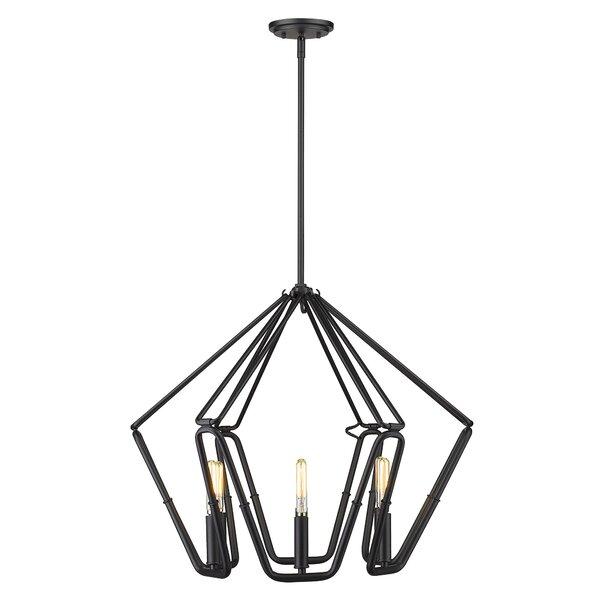 Konover 6 - Light Unique / Statement Geometric Chandelier by Wrought Studio Wrought Studio