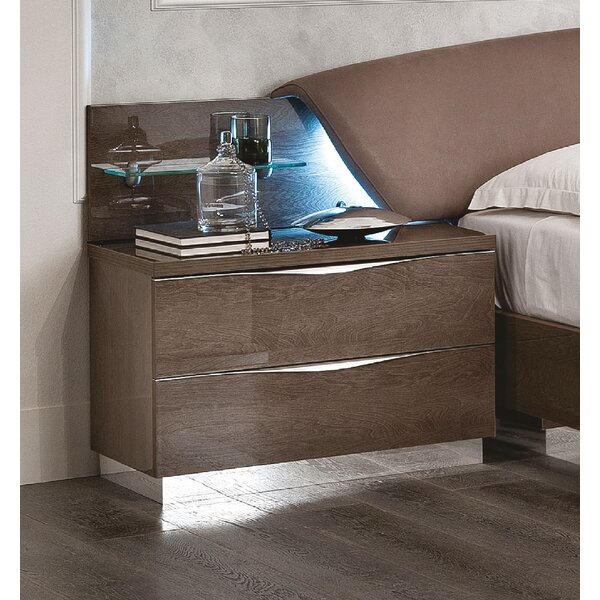 Gary 2 Drawer Nightstand by Rosdorf Park