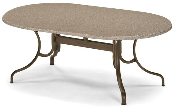 Synthestone Oval Deluxe Dining Table by Telescope Casual
