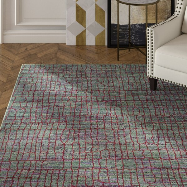 Manchester Green/Red Area Rug by Mercer41
