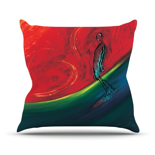 Glide Outdoor Throw Pillow by KESS InHouse