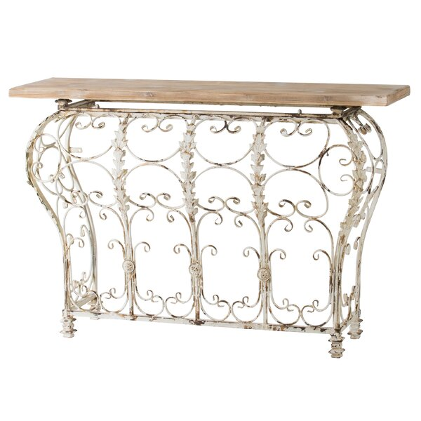 Bertsch Console Table - Antique White By Ophelia & Co.