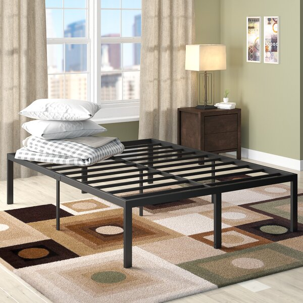 Yetter Steel Slat Bed Frame by Latitude Run