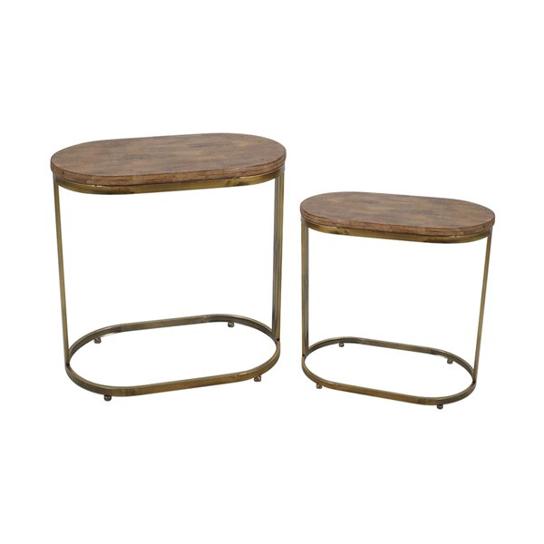 2 Piece End Table by Jeco Inc.