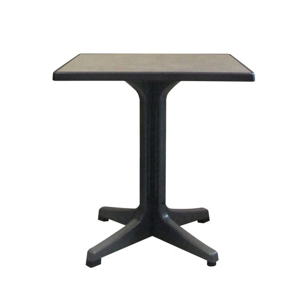 """Omega 28"""" Square Resin Table by Grosfillex Expert"""