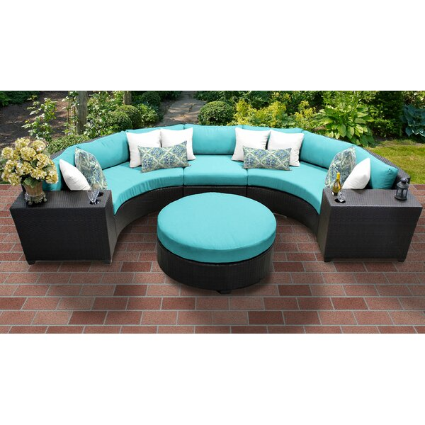 Tegan 6 Piece Rattan Sectional Seating Group with Cushions by Sol 72 Outdoor