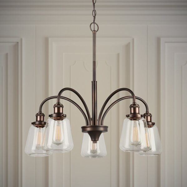 Chad 5-Light Shaded Classic / Traditional Chandelier by Williston Forge Williston Forge