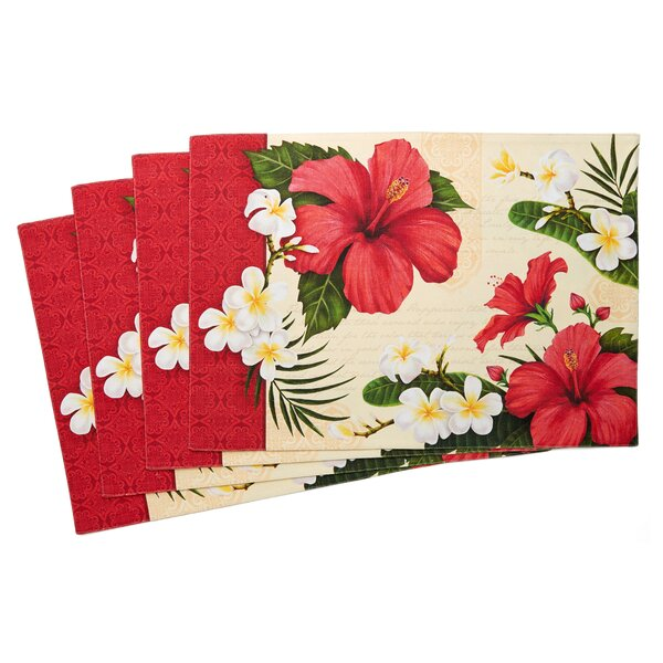 Hibiscus Blossom Placemat (Set of 4) by TSC Giftables