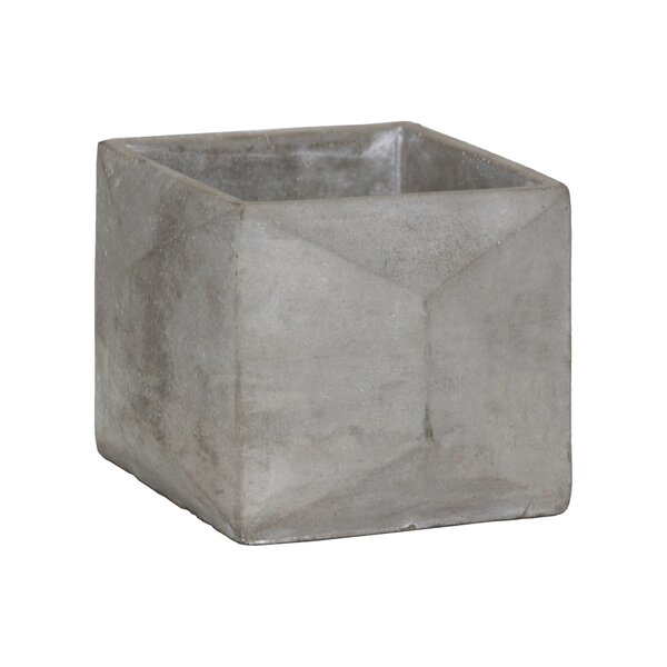 Sherise Cement Pot Planter by Williston Forge