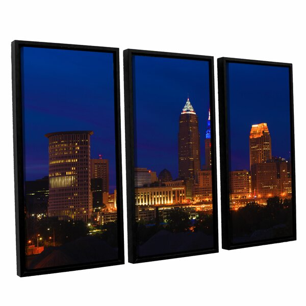 Cleveland 5 by Cody York 3 Piece Framed Photographic Print on Canvas Set by ArtWall