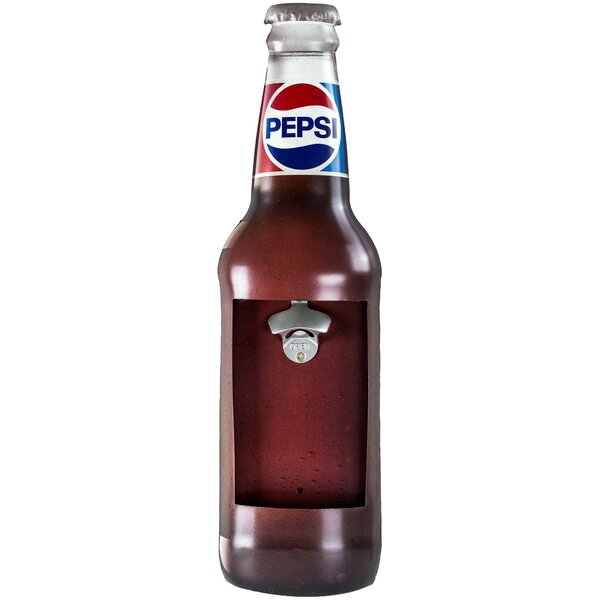 Pepsi Vintage Wall Mounted Metal Bottle Opener by East Urban Home