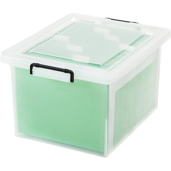 Letter Legal File Box with Buckles (Set of 6) by IRIS USA, Inc.