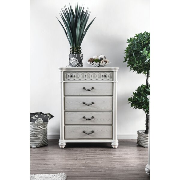 Aubrie 5 Drawer Chest by Rosdorf Park