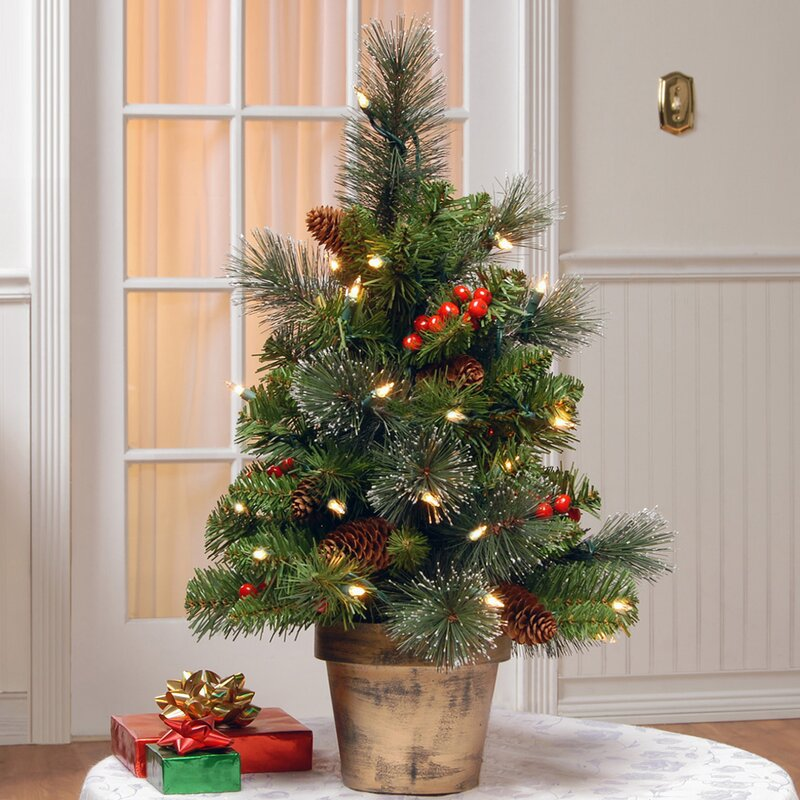 gold hill spruce 2 green small artificial christmas tree with clear lights - Small Artificial Christmas Tree