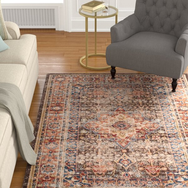 Broomhedge Brown/Rust Area Rug by Charlton Home