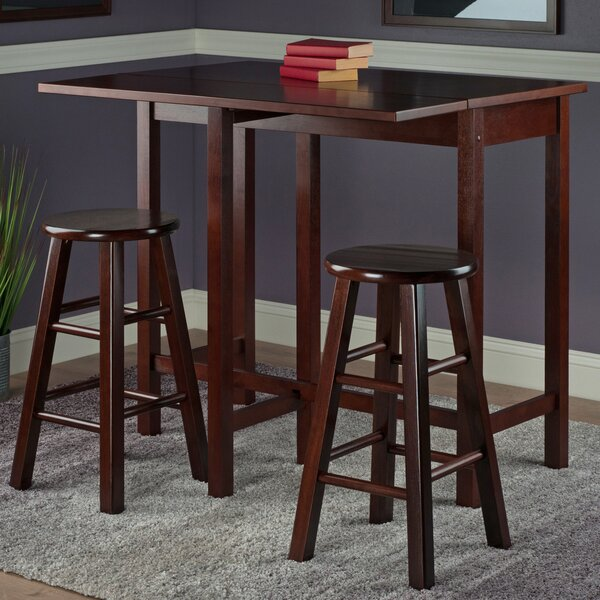 Grote 3 Piece Counter Height Pub Table Set By Red Barrel Studio