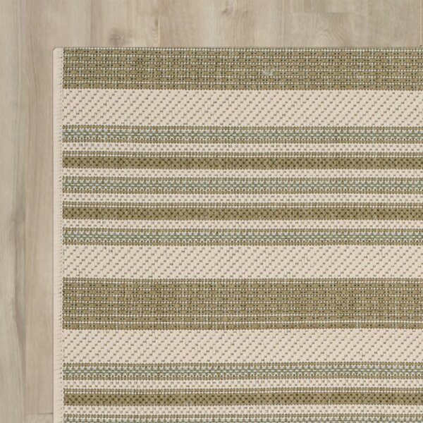 Octavius Beige / Green Indoor / Outdoor Area Rug by Charlton Home