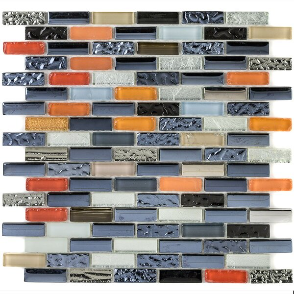 0.6 x 2 Glass Mosaic Tile in Bistro by Splashback Tile