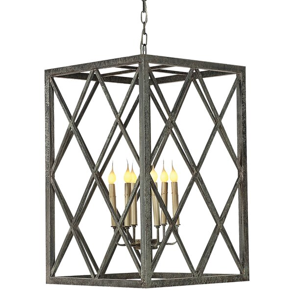 Ephesus 6 - Light Candle Style Rectangle / Square Chandelier by ellahome ellahome
