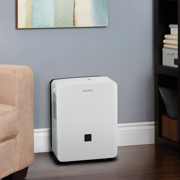 30 Pint Portable Dehumidifier with Casters by Danby