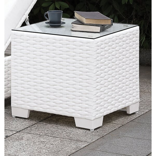 Kuhn Glass Side Table by Rosecliff Heights
