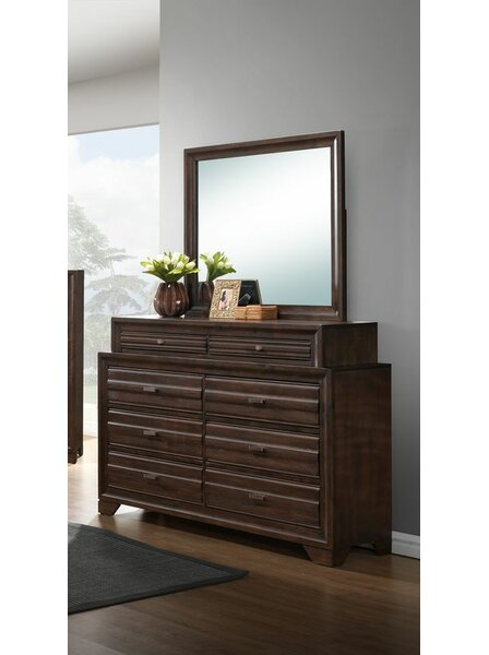 Wooster 8 Drawer Double Dresser with Mirror by Gracie Oaks