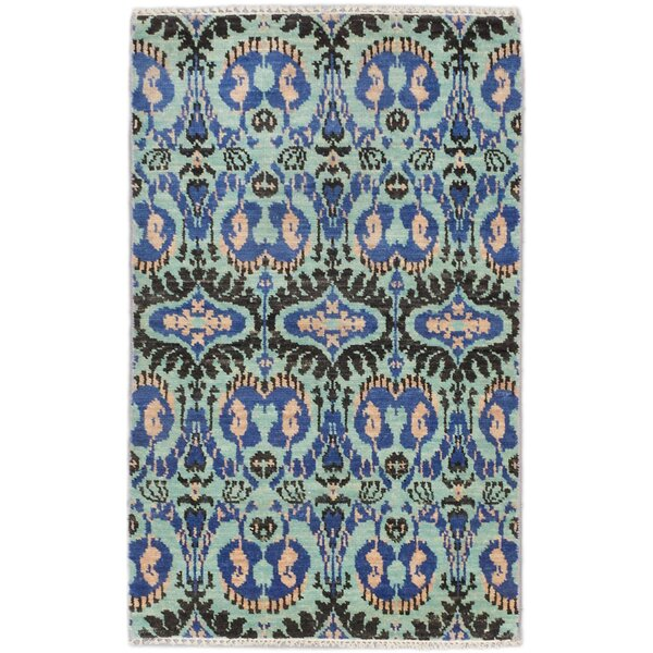 One-of-a-Kind Donahoe Hand-Knotted Blue Area Rug by Isabelline