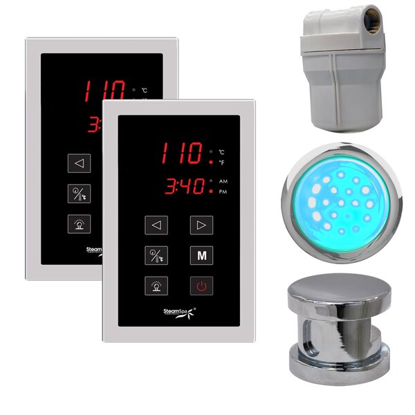 SteamSpa Royal Touch Panel Control Kit in Chrome by Steam Spa
