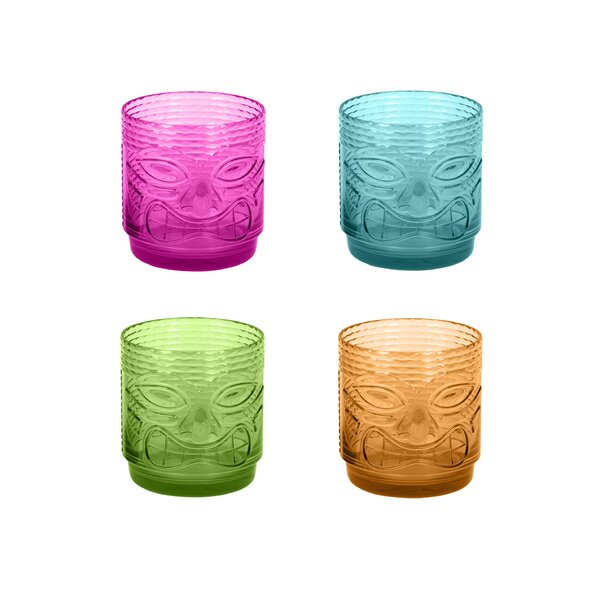 Belmont Tiki 18 oz. Acrylic Every Day Glass (Set of 4) by Bay Isle Home