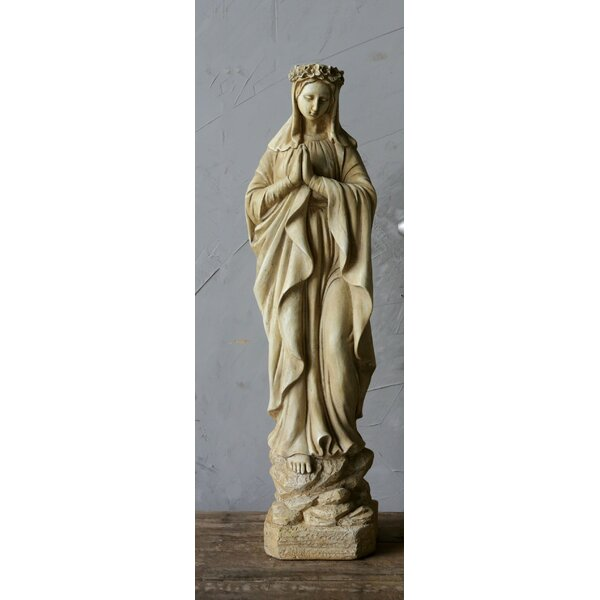 Traditional Resin Virgin Mary Statue by World Menagerie