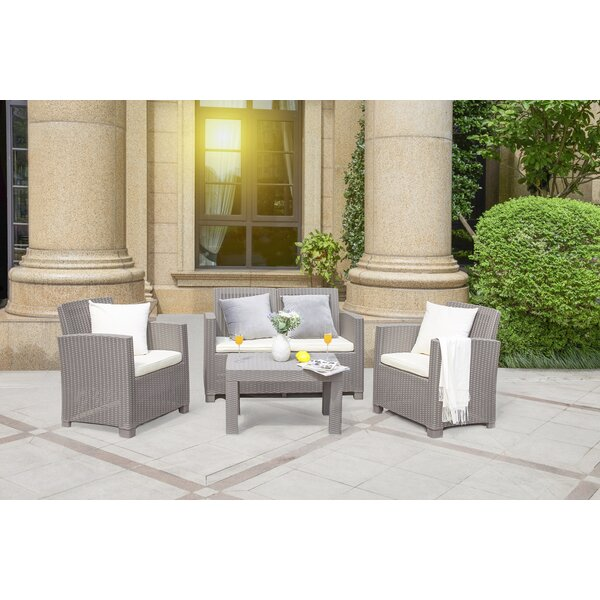 Gagne 4 Piece Sofa Seating Group with Cushions by Highland Dunes