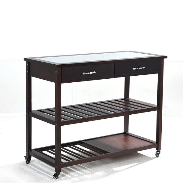 Kitchen Island with Glass Top by Greenville Signature