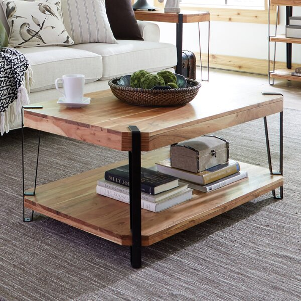 Tindal Live Edge Coffee Table by Union Rustic Union Rustic