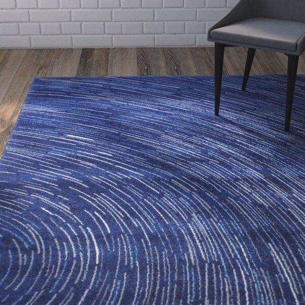 Reasor Dark Blue Area Rug by Wrought Studio