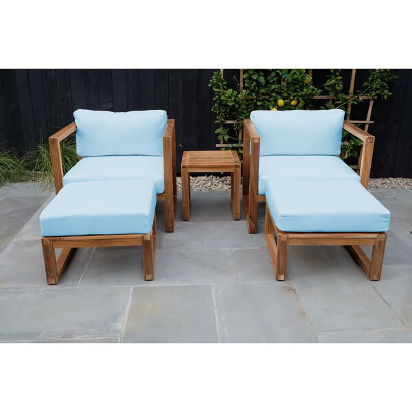 Mortimer Venice Chat 5 Piece Teak Sofa Seating Group by Foundry Select