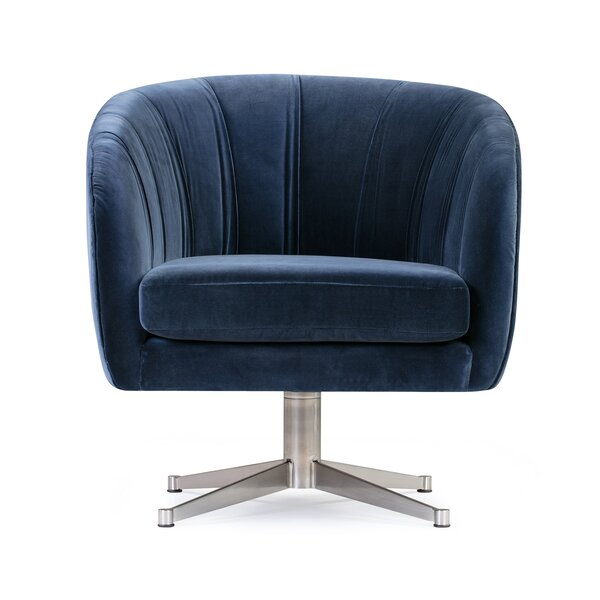 Flinn Crescent Swivel Barrel Chair