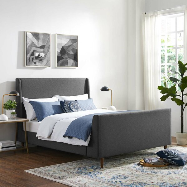 Shadle Queen Upholstered Platform Bed by Ivy Bronx